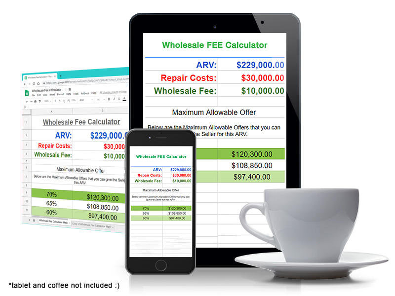 Determine Your Cash Offer In Seconds With The Whole Fee Calculator