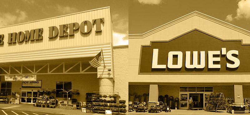 use home depot and lowes for repair costs